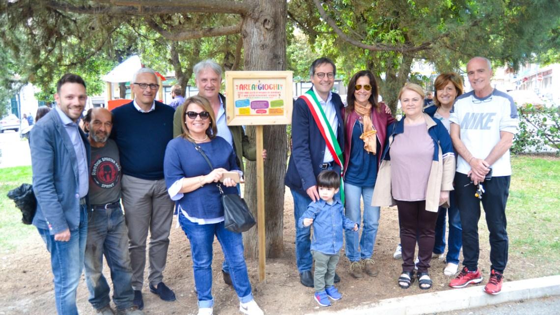 Inaugurato il parco giochi donato dal sindaco Angarano