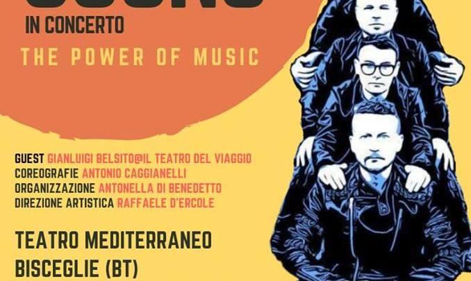 I Sottosuono in concerto a Bisceglie, giovedì 25 luglio al Teatro Mediterraneo con The Power of Music