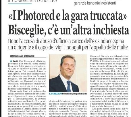 Gara Photored, Spina: «Non era truccata, assolti Camero e Dell'Olio. Scagliarini ne prenda atto»