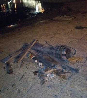 Distrutto un argano al porto di Bisceglie, caccia ai responsabili