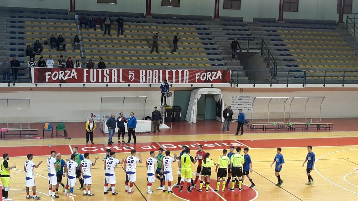 Fùtbol Cinco sconfitto in rimonta sul campo del Futsal Barletta