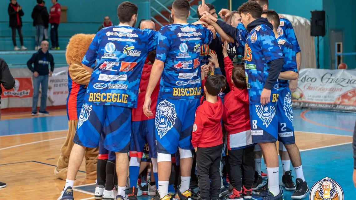 Lions Basket Bisceglie, stop all'attività della prima squadra