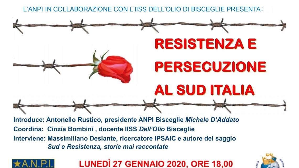 """Giornata Memoria, dall'Anpi e l'IISS l'incontro pubblico """"Sud e Resistenza"""""""