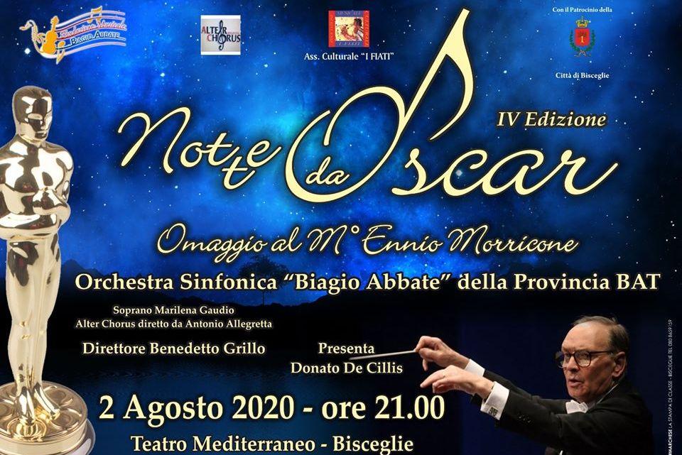 """Omaggio a Morricone per le """"Note da Oscar"""". Concerto dell'Orchestra della Provincia BAT"""