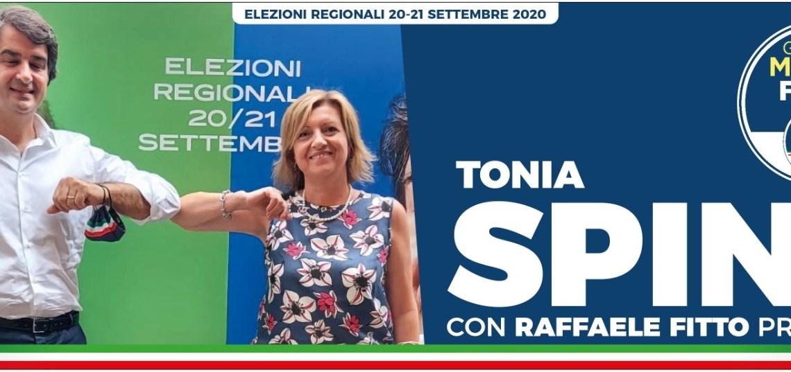 Fitto a Bisceglie per la presentazione della candidatura di Tonia Spina