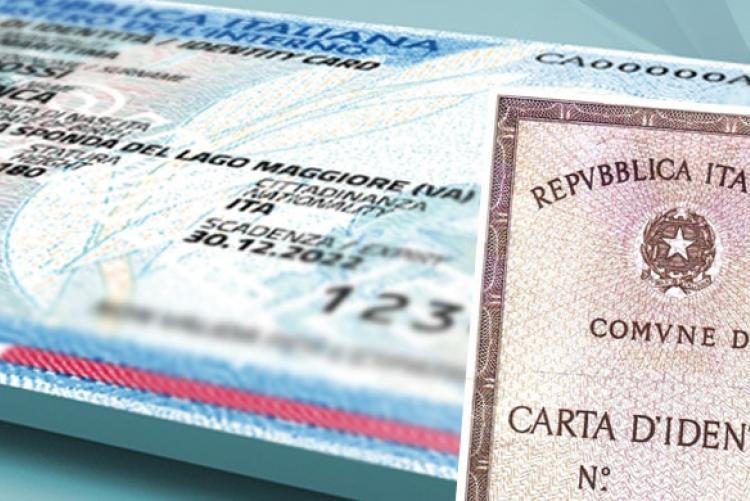 Le carte di identità in scadenza da marzo sono prorogate fino al 31 dicembre