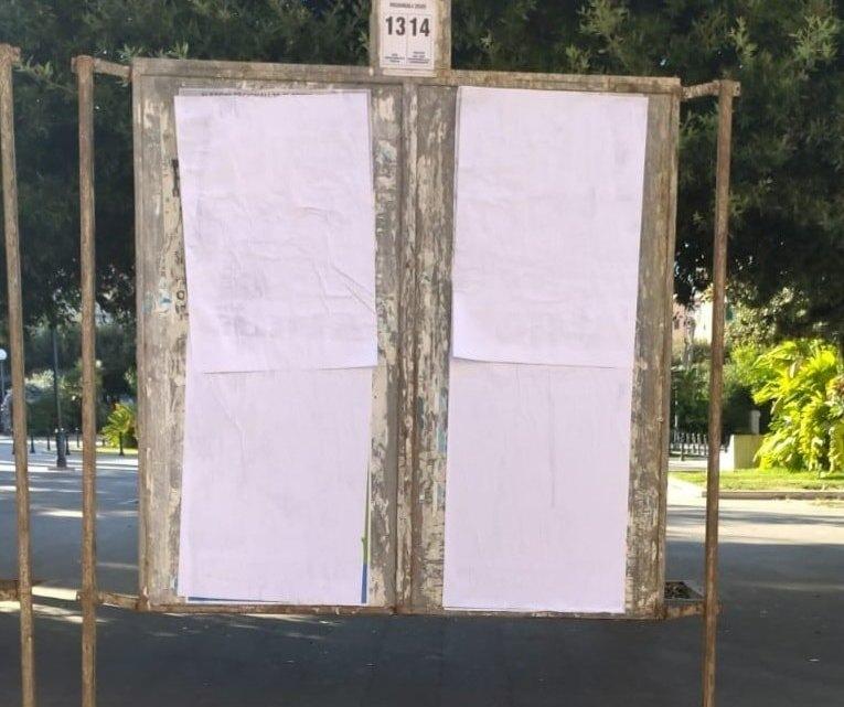 Manifesti di Lima sostituiti da manifesti di altri candidati a Bisceglie