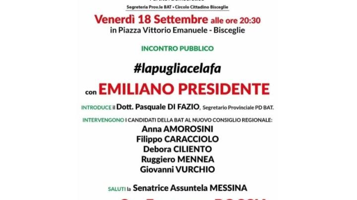 Comizio di chiusura, Francesco Boccia questa sera in Piazza Vittorio Emanuele