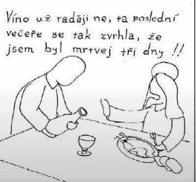 Velikonoční vtip: Ježíš a víno