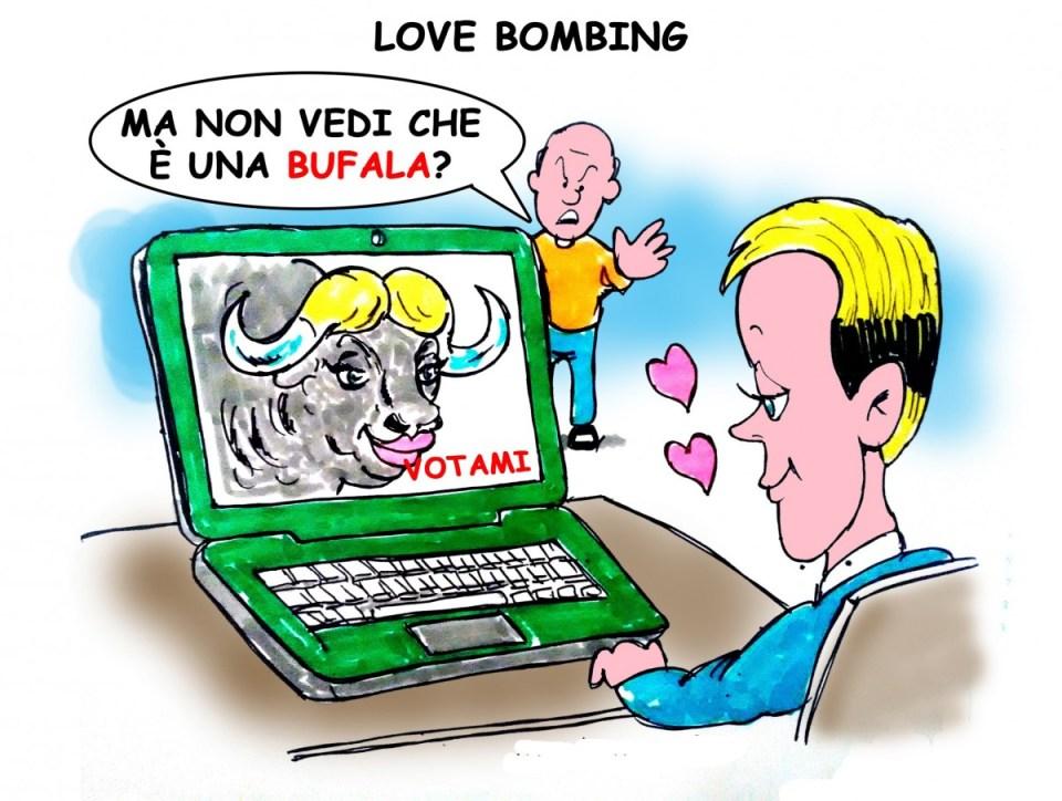 """Love bombing"""