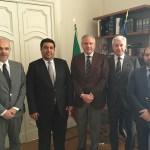 da sinistra Corbello, Al Gergawi, Tuccillo, Carandente e Ahli