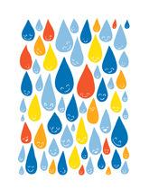 naklejki na ścianę deszczyk