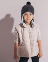 full moon vest pale pink Kids On The Moon