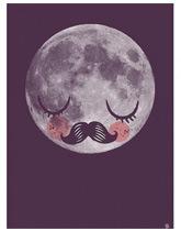 plakat Księżyc Omm Design