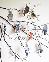 Zestaw dekoracji papierowych