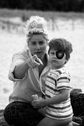Basia Wrońska z synem