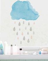 Folia na okna Kropelki z Chmurką