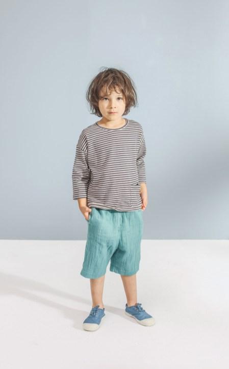 striped top_emerald shorts
