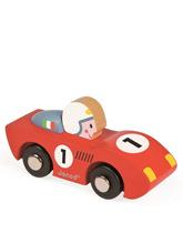 czerwona wyścigówka
