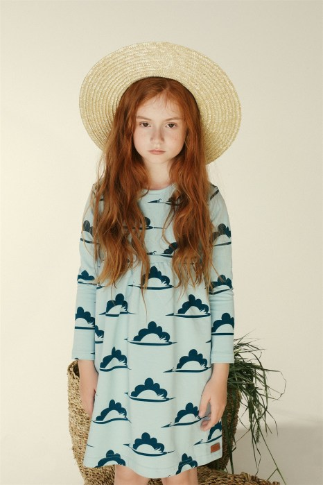 sukienka lo niebieski bocian 1