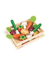 Warzywa drewniane w skrzyneczce