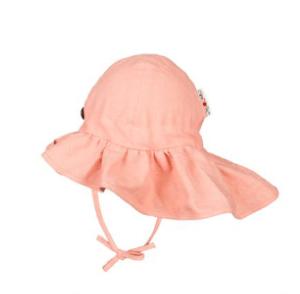 kapelusz z falbaną Glamour Peach Rose