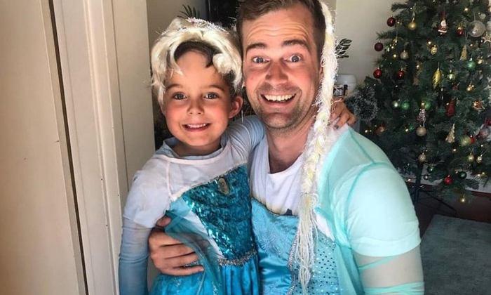 Mój syn w sukience Elzy