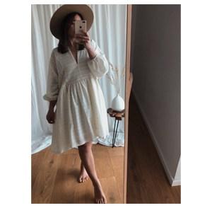 sukienka boho cream