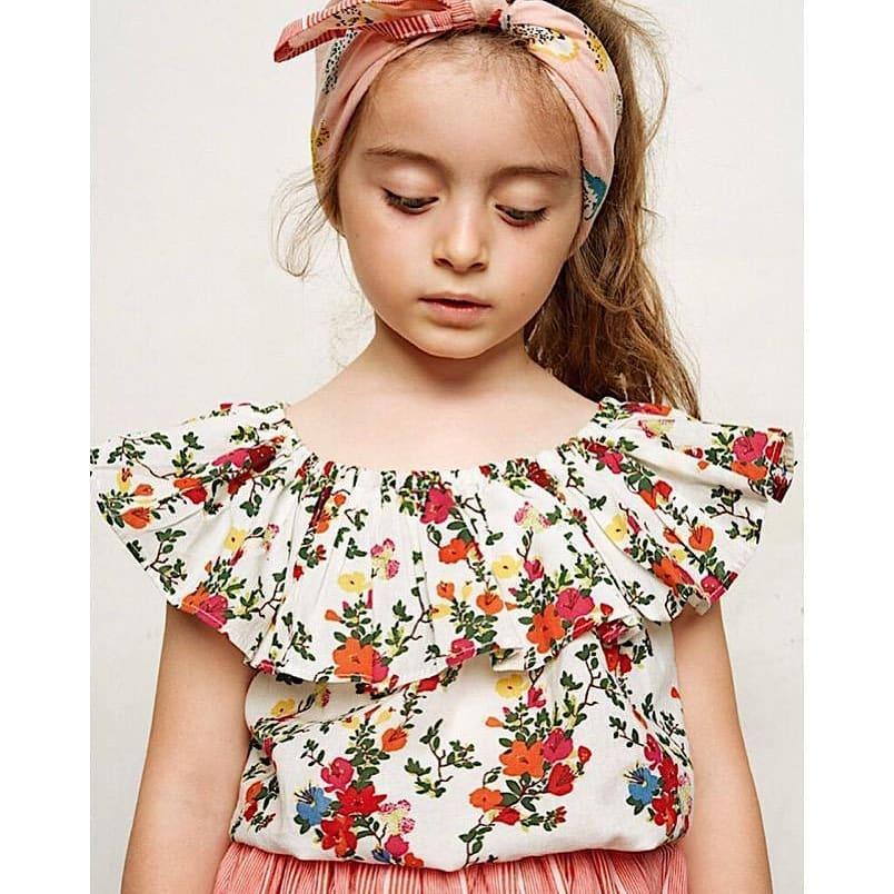 bluzka dla dzieci w kwiaty
