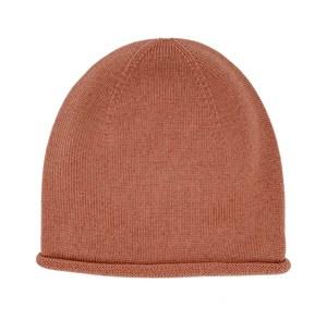 czapeczka z wełny merino - brick