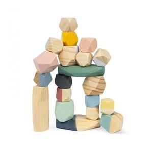 Drewniane kamyki