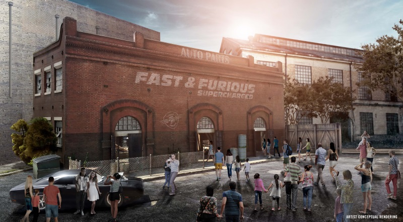 Fast Furious - Supercharged Entrance Rendering
