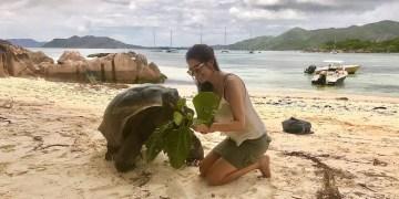 Andrea Miramontes em Seychelles