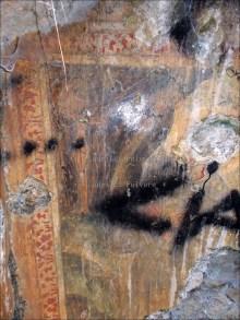 San Nilo in adorazione del crocifisso; particolare