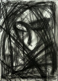 ~ Into the depths of my darkness ~ Fusain/Charcoal