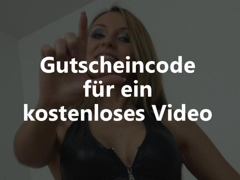 Gutscheincode für ein Kostenloses Video