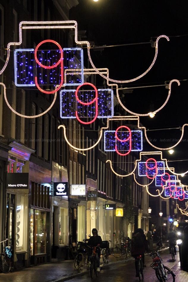 Lichtkunst in den 9 straatjes in Amsterdam zur Vorweihnachtszeit