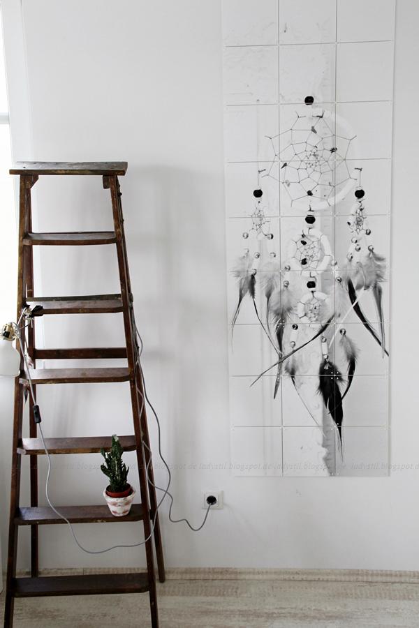 Wanddekoration mit IXXIdesign, originelle Bilder zum Selbergestalten, Schlafzimmer einrichten mit stylischen Fotos für die Wand, Traumfänger,