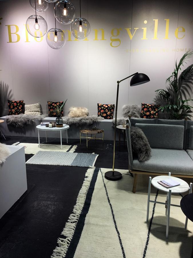 Stand von Bloomingville Internationalen Möbelmesse imm2017 in Köln mit Herstellern wie String, Vita, Bloomingville,Cane-line und Carolijn Slottje
