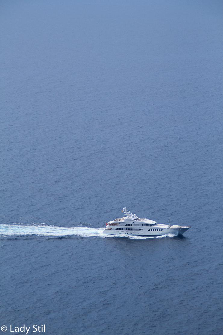 Mallorca Boot auf offenem Meer