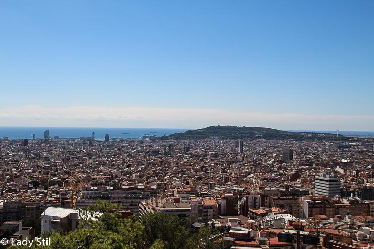 Barcelona aus der Vogelperspektive