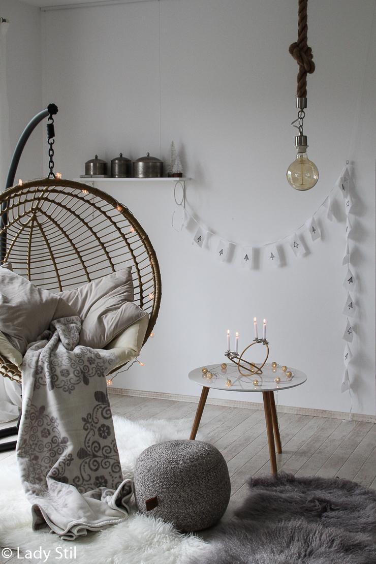 DIY skandinavischer Adventskranz