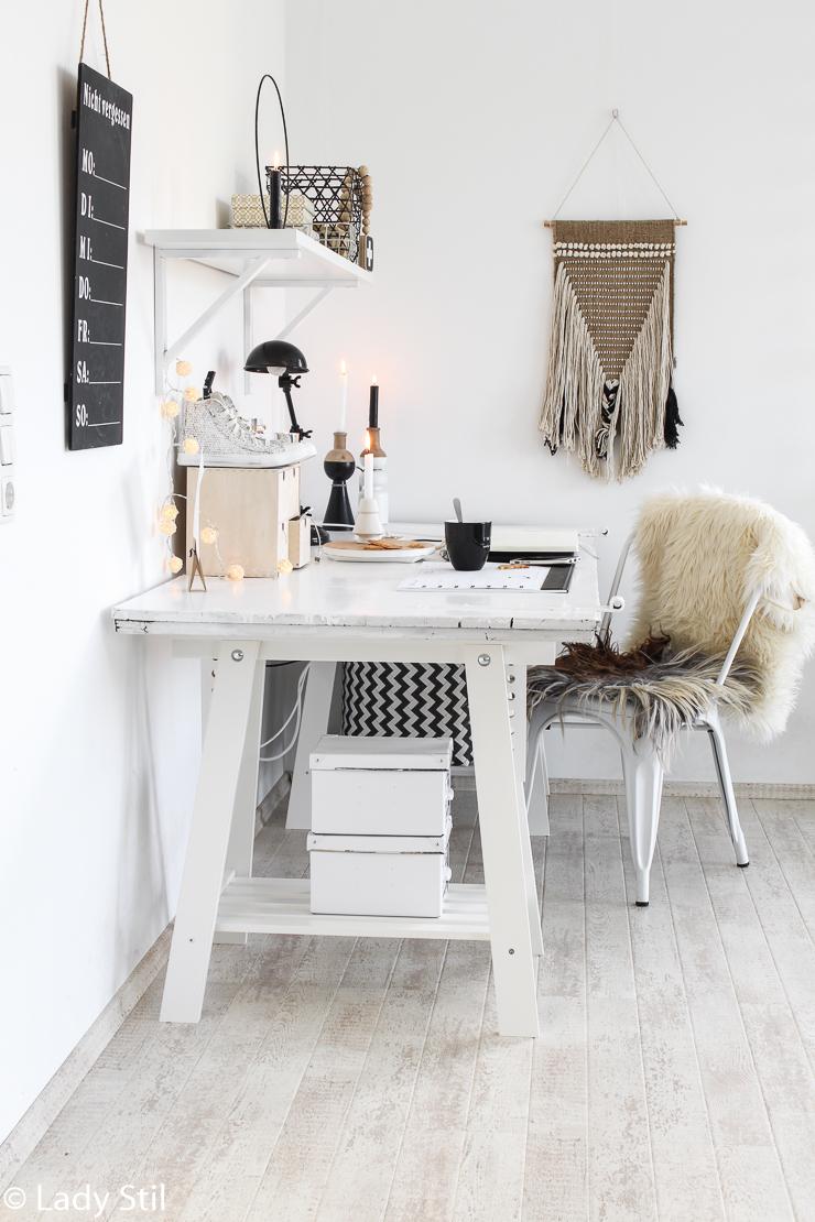Alte Tür verwerten Schreibtisch