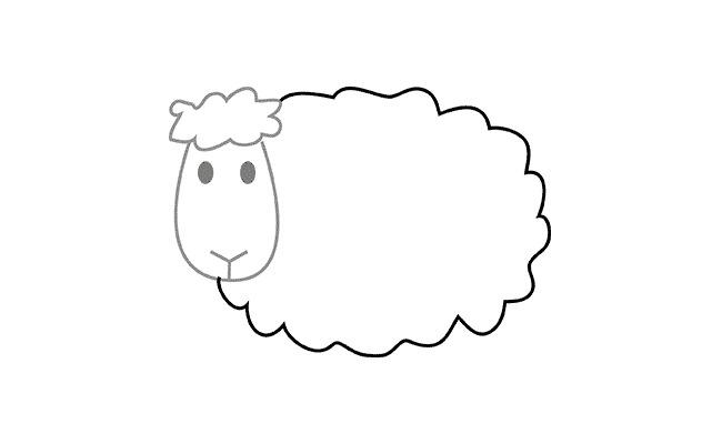 Картинки овечки для срисовки, открытка