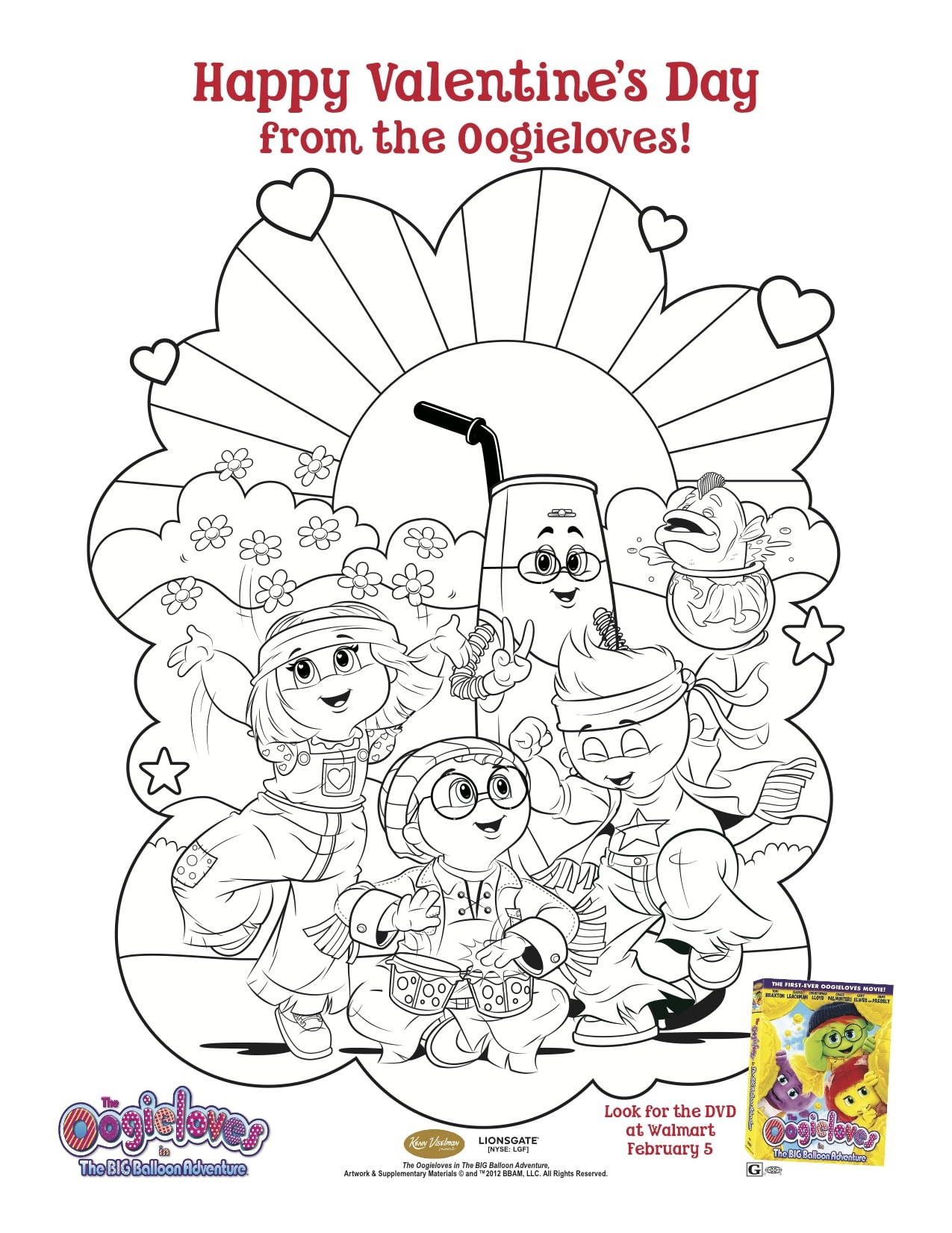 The Oogieloves In The Big Balloon Adventure Valentine S Day Printables