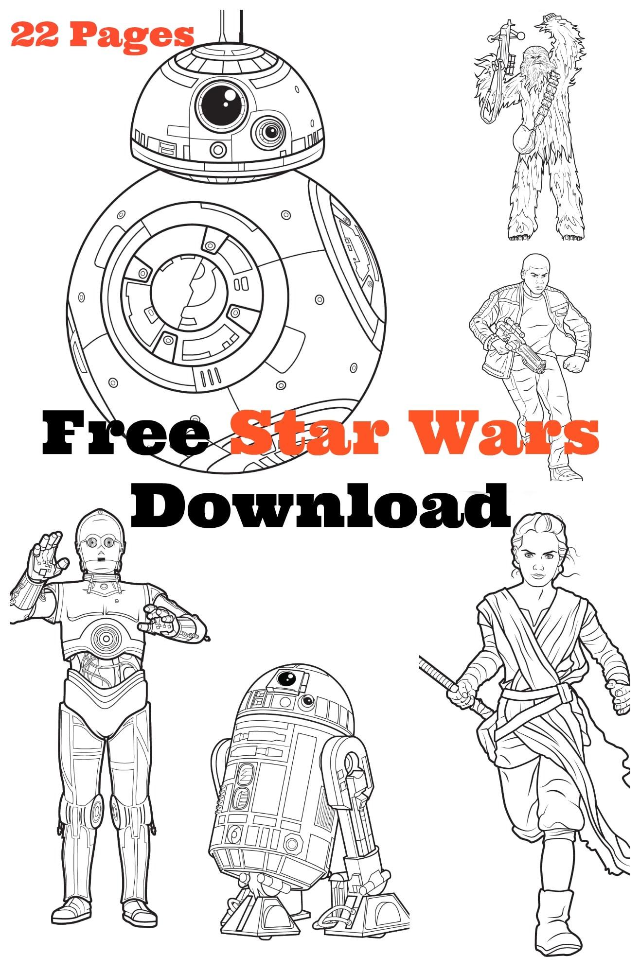 Mega Star Wars Free Coloring Activity Kit