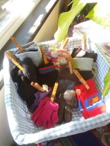 clothespin organization