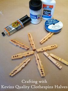 Supplies for Clothespin Snowflake Craft