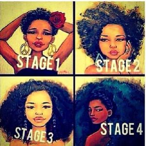 natural hair stages