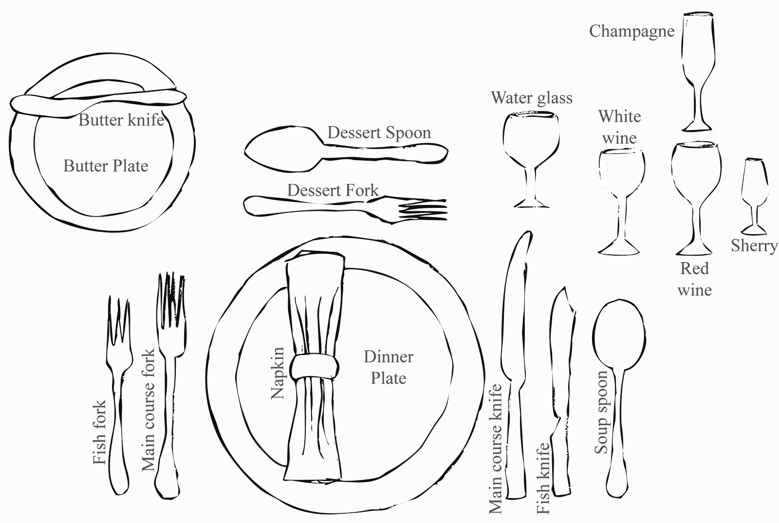 French Table Setting Etiquette Amp Medium Size Of Fine
